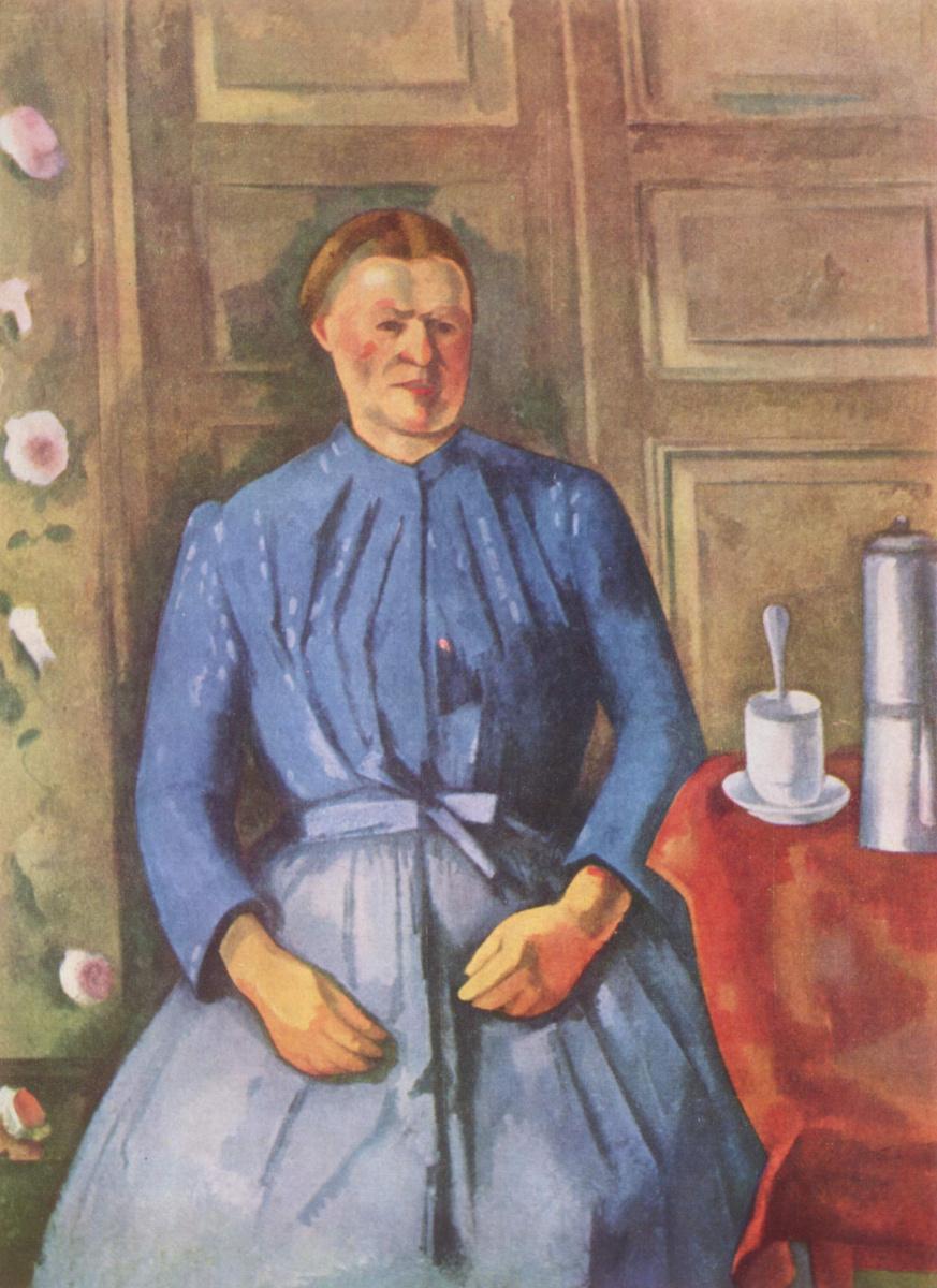 Поль Сезанн. Женщина с кофейником
