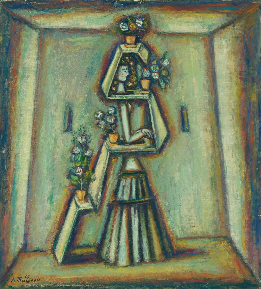 Alexander Grigoryevich Tyshler. Flower shelf