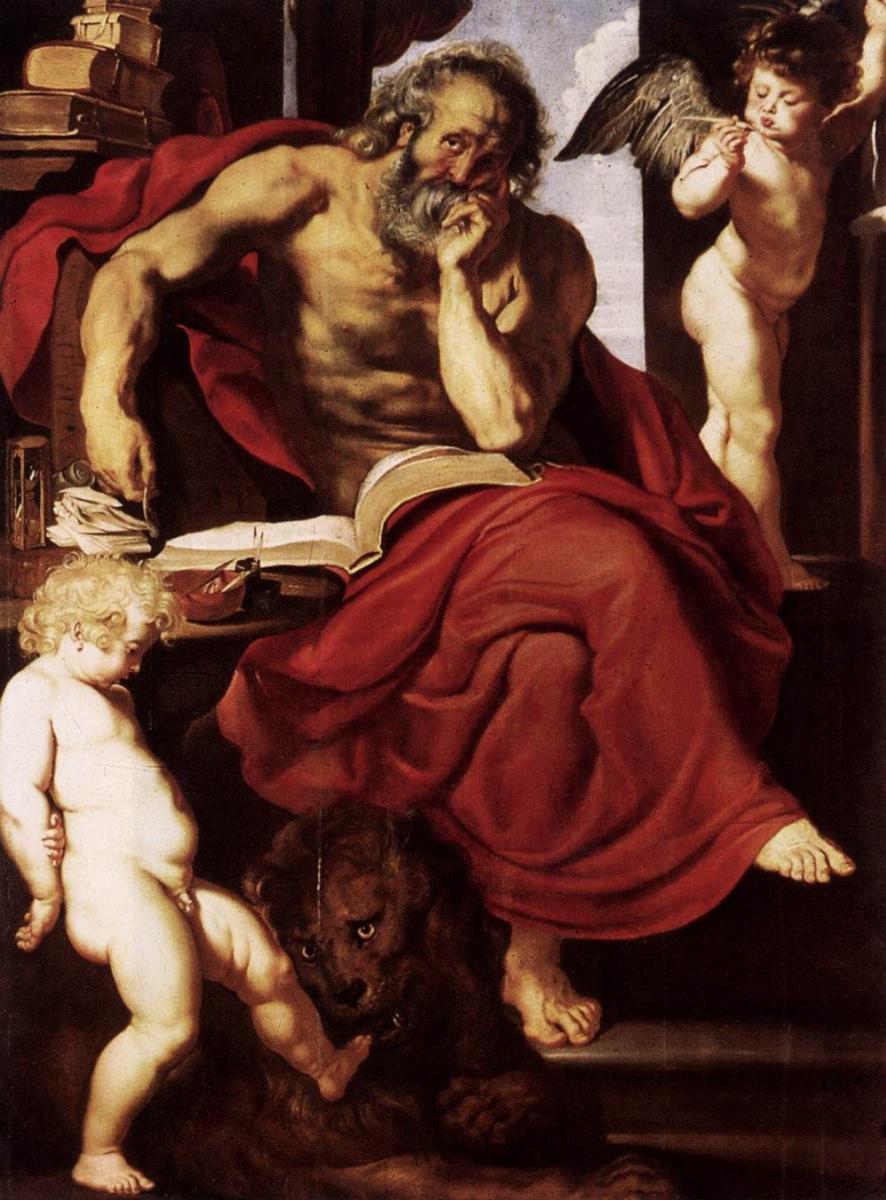 Питер Пауль Рубенс. Святой Иероним в своей келье