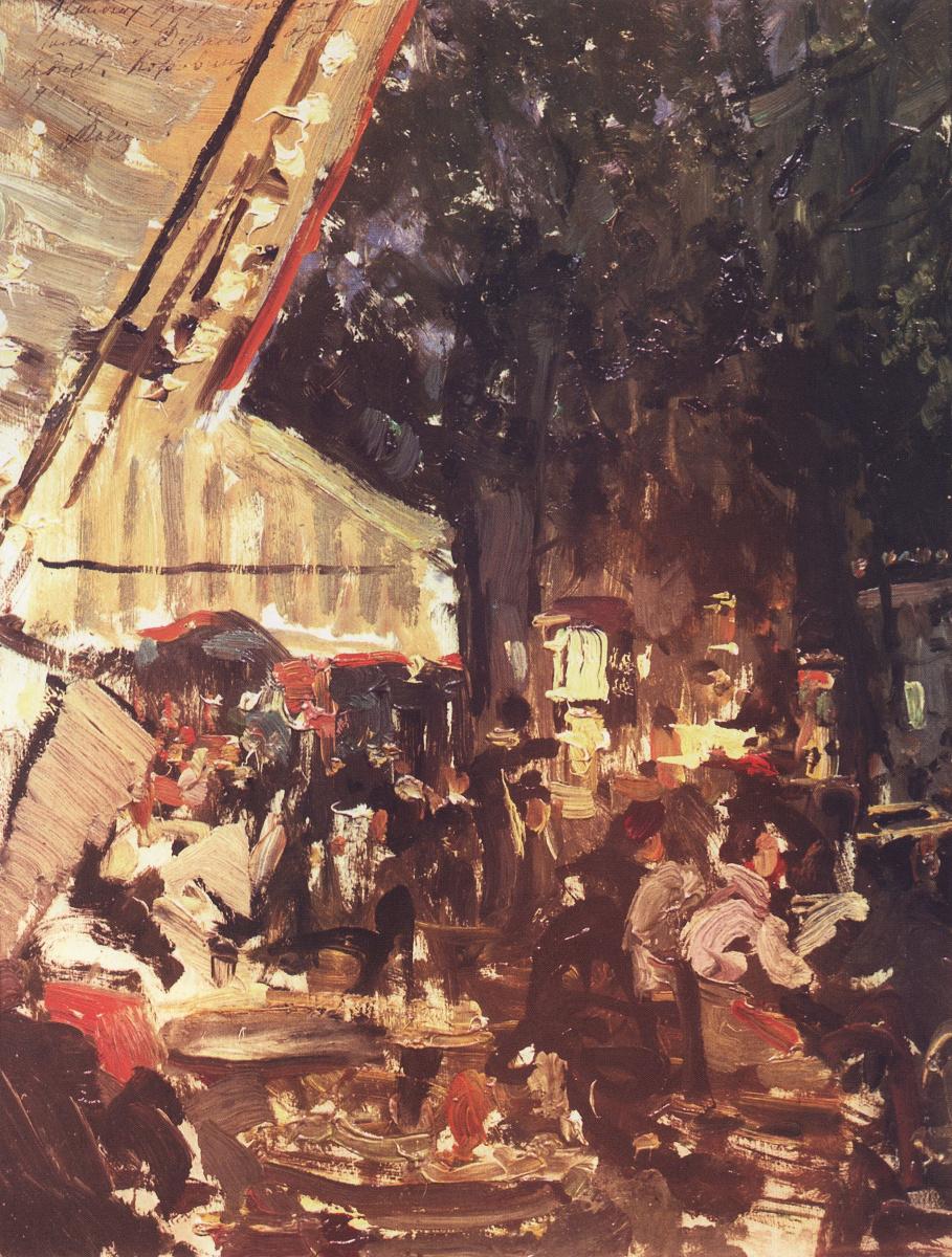 Константин Алексеевич Коровин. Кафе