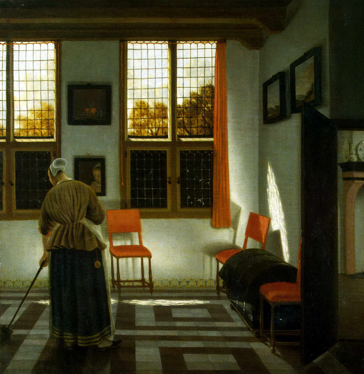 Питер Янсенс Элинга. Комната в голландском доме