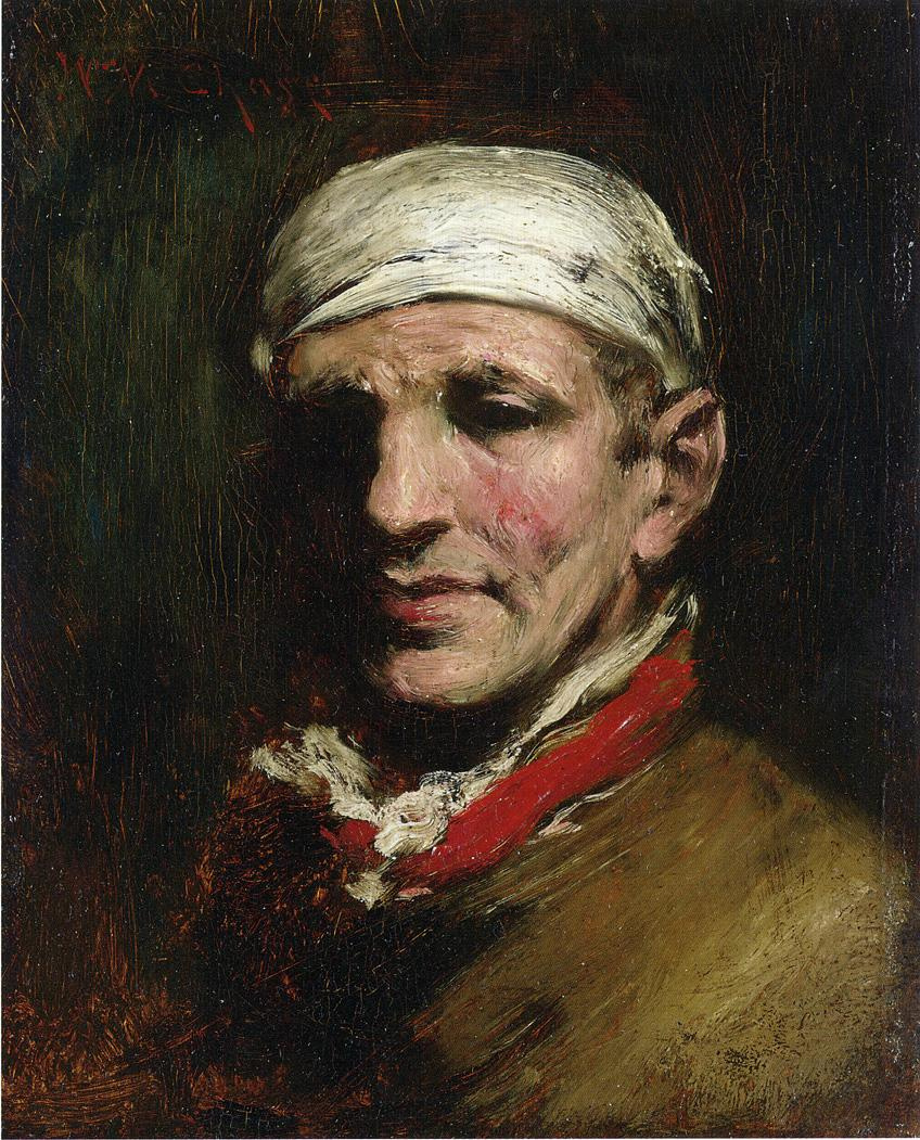 William Merritt Chase. The man in the bandana