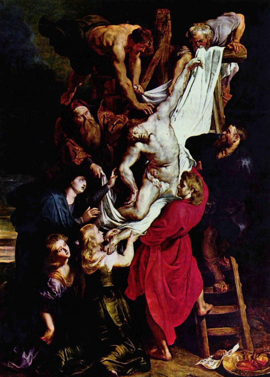 Питер Пауль Рубенс. Снятие с креста (фрагмент)
