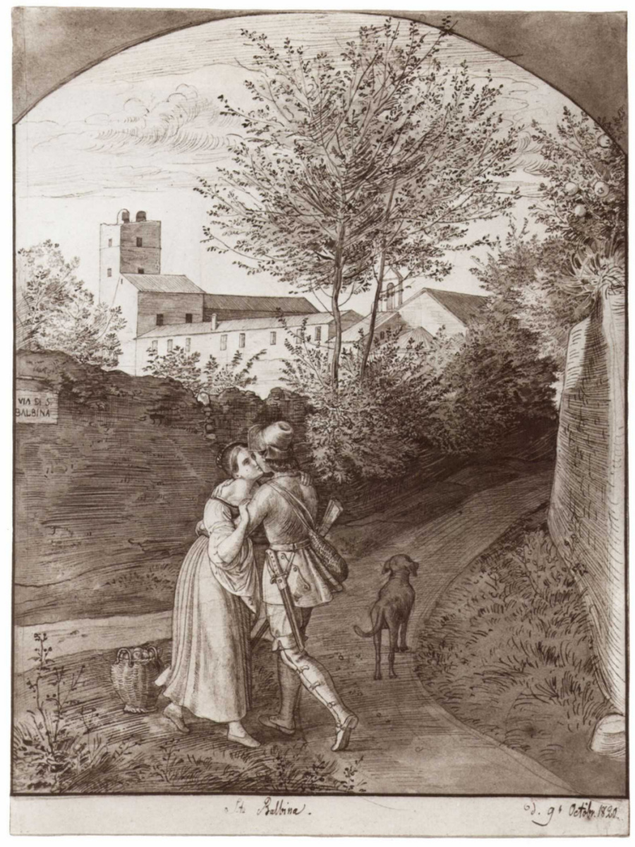 Юлиус Шнорр фон Карольсфельд. Близ церкви святого Бальбина в Риме