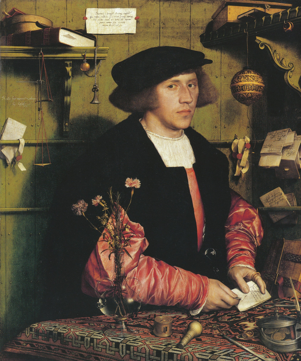 Hans Holbein The Younger. Portrait of the merchant Georg Guissé