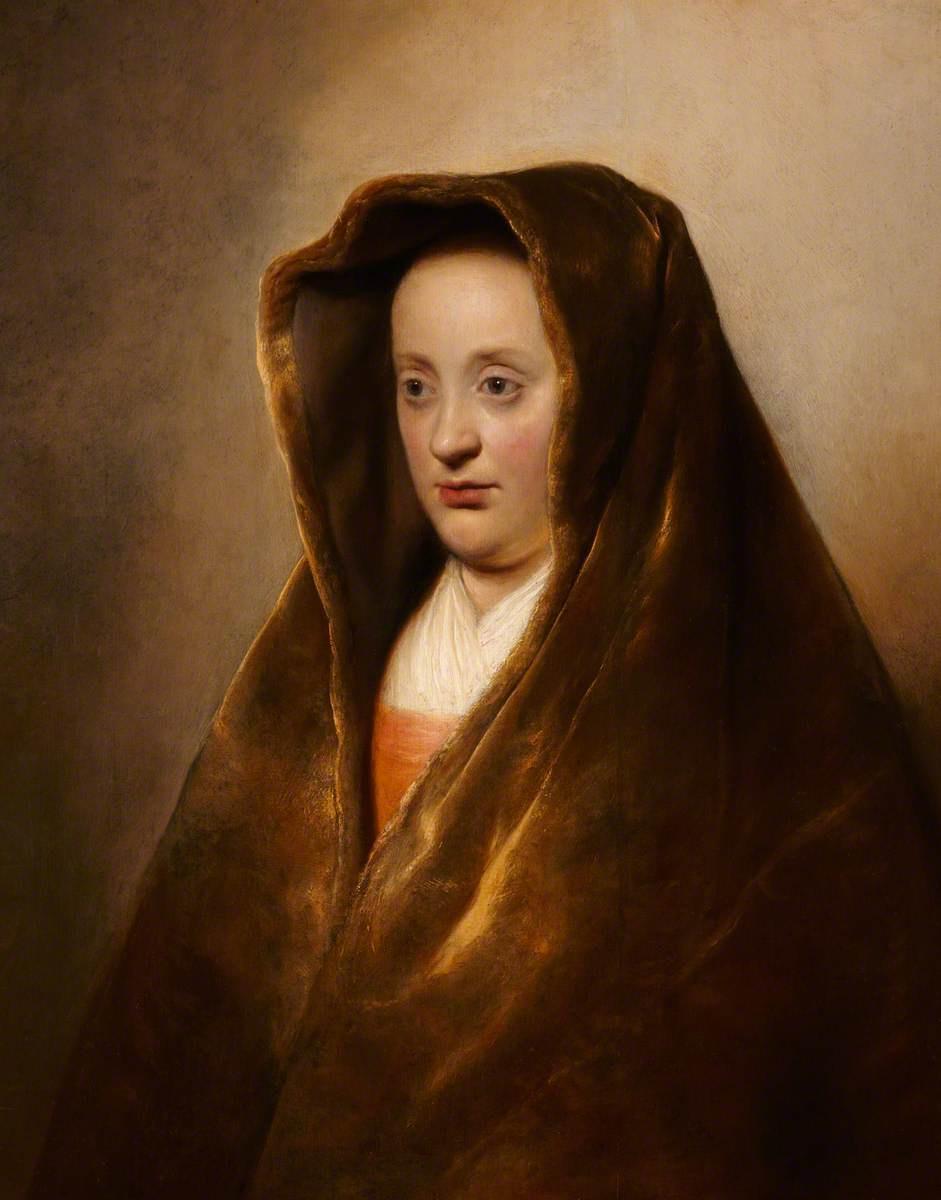 Ян Ливенс. Портрет женщины в бархатном капюшоне