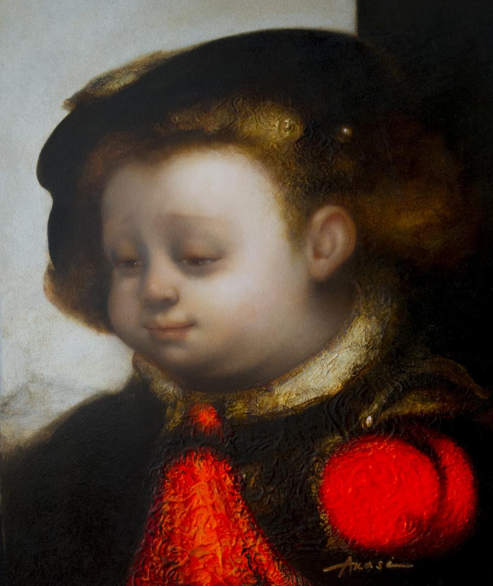 Ольга Акаси. Portrait of a boy