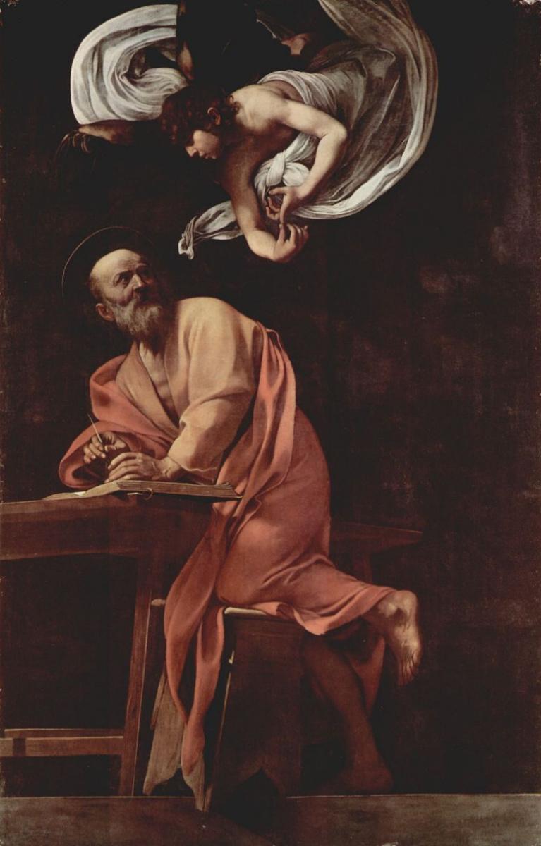 Микеланджело Меризи де Караваджо. Святой Матфей и ангел