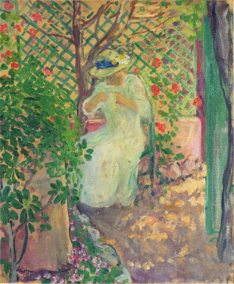 Анри Лебаск. Марта в саду