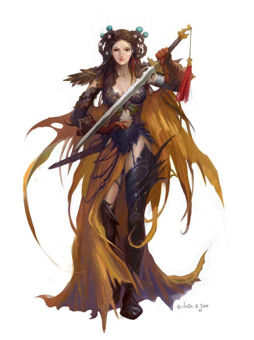 Джинсонг Чен. Девушка с мечом