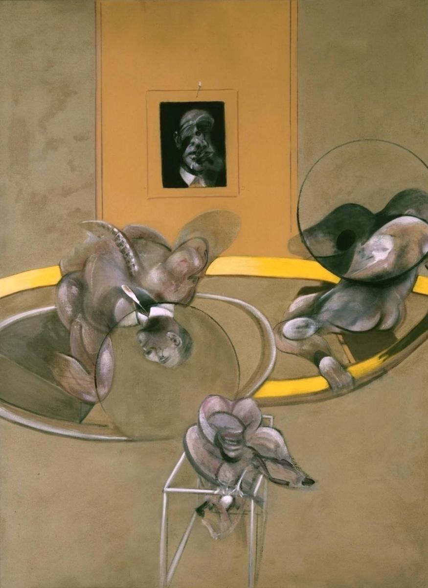 Фрэнсис Бэкон. Три фигуры и портрет