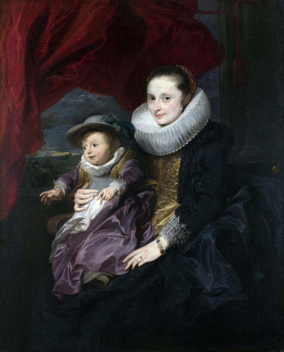 Антонис ван Дейк. Портрет женщины с ребёнком