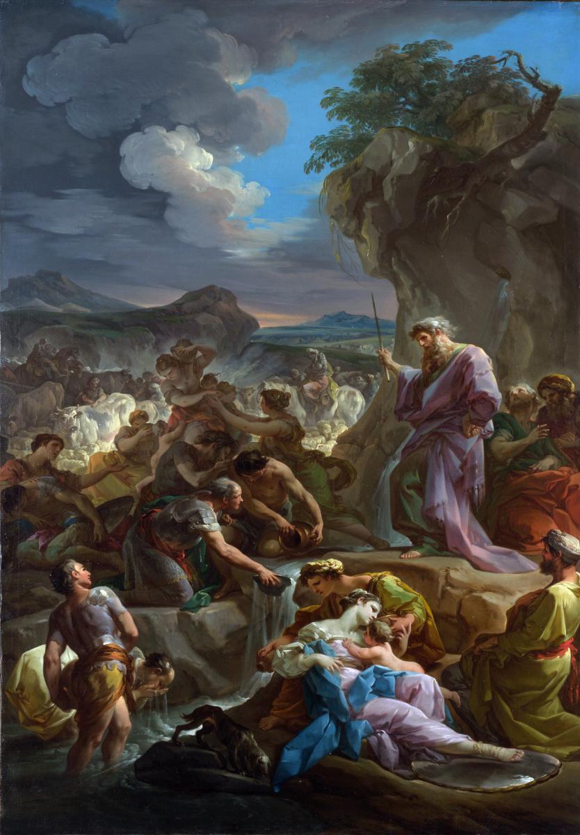 Коррадо Гиакууинто. Моисей, источающий Рок