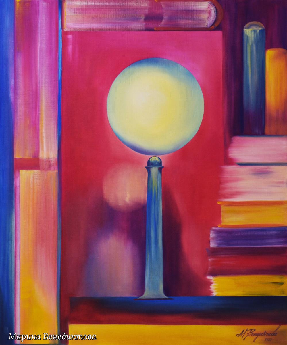 Marina Venediktova. LIGHT AND BOOKS - original oil painting