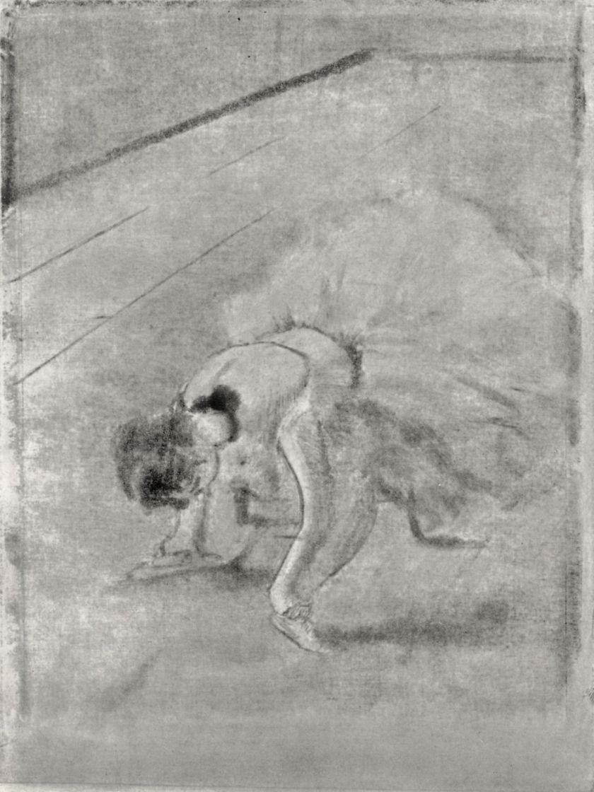 Эдгар Дега. Сидящая танцовщица, массирующая ноги