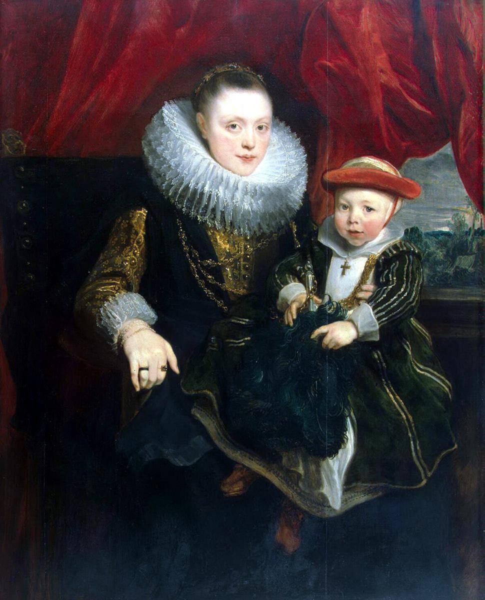 Антонис ван Дейк. Портрет молодой женщины с ребенком