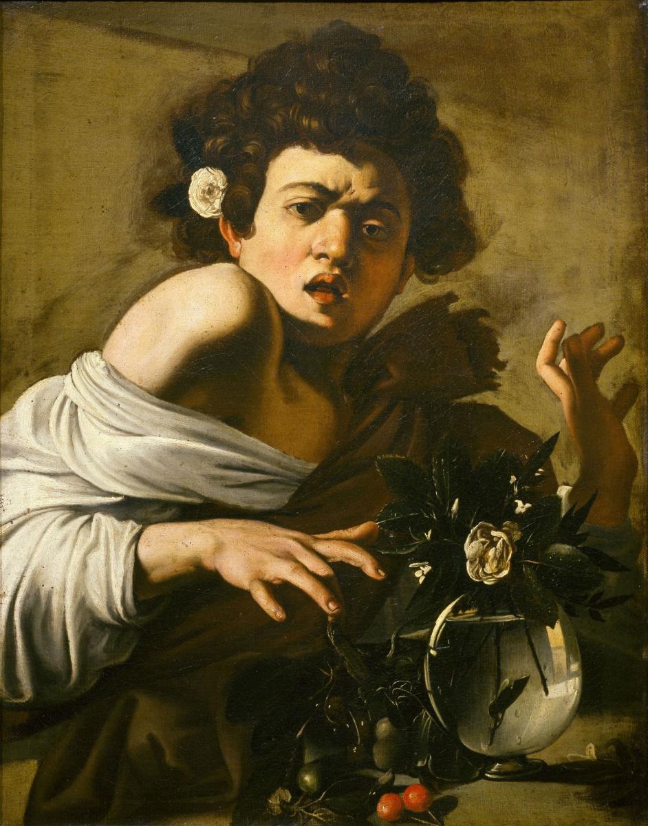Микеланджело Меризи де Караваджо. Мальчик, укушенный ящерицей