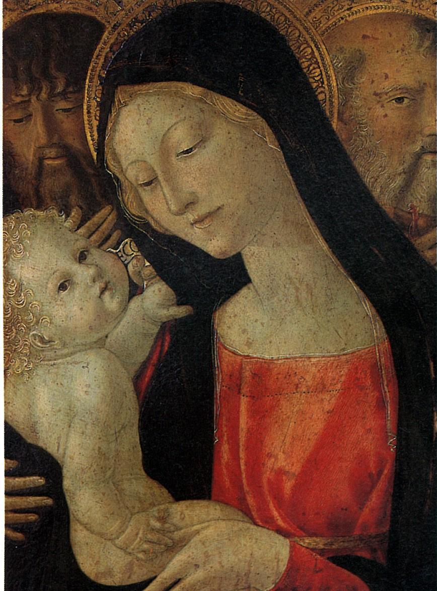 Нероккио Де Ланди. Мадонна с младенцем, со святыми Иоанном Крестителем и Антонием
