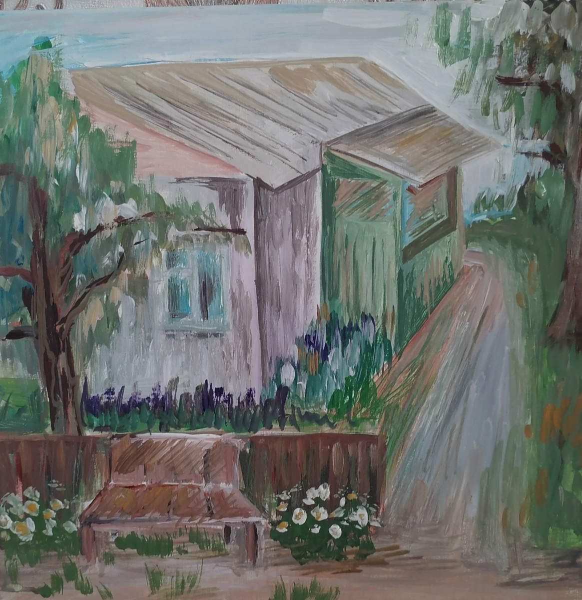 Lyudmila Alexandrovna Tkhorenko. Grandma's house