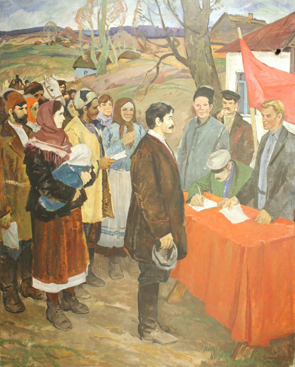 Grigory Stepanovich Vasetsky. Entry to the farm
