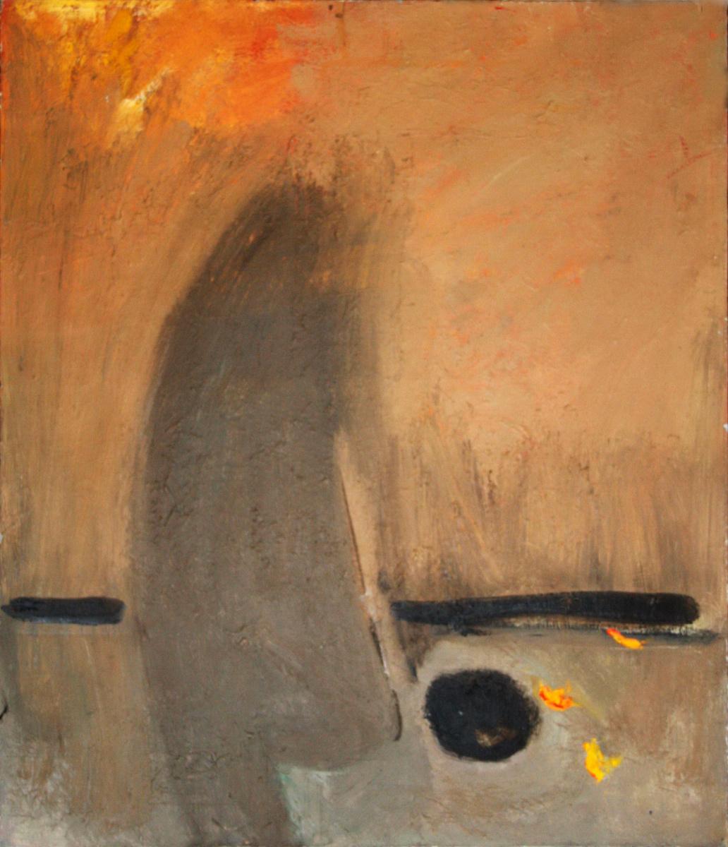 "Konstantin Kosarevsky. Kosarevsky Kostyantin ""STOP OSIN"" 1996 canvas ol_ya 70x60 cm. Kosarevskyi Konstiantyn ""THE LAST AUTUMN"" 1996 oil on canvas 70x60 cm."