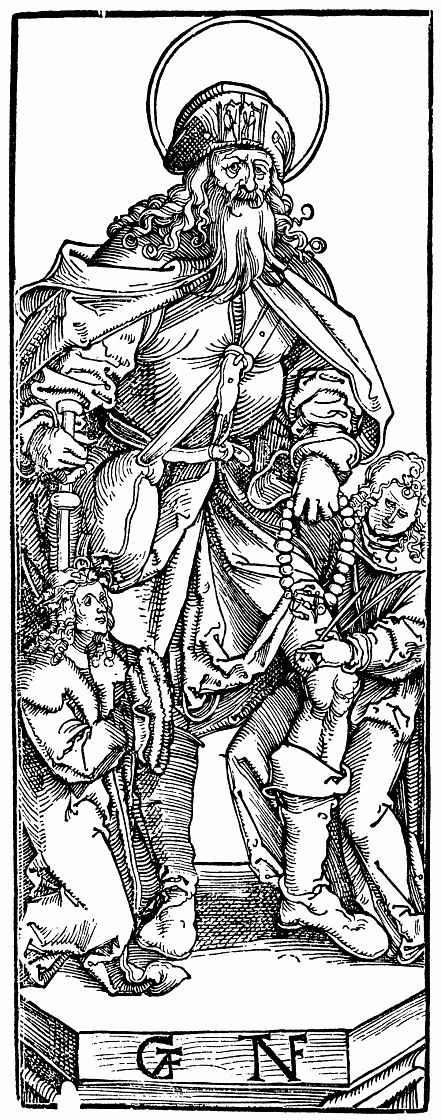 Ханс Бальдунг. Святой Рох с ангелом и коленопреклоненным заказчиком