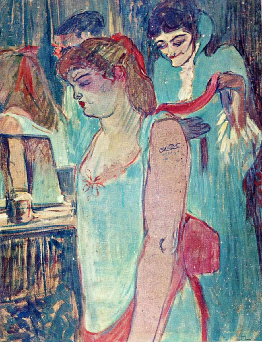 Анри де Тулуз-Лотрек. Татуированная женщина