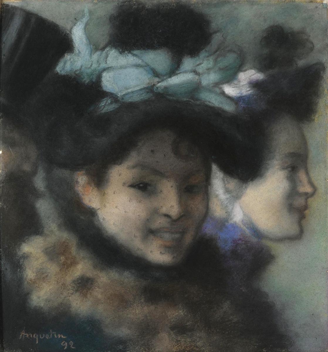 Луи Анкетен. Две женщины и мужчина. 1892