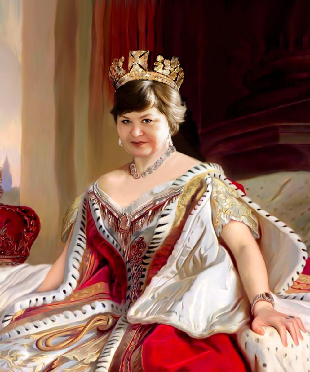 Olga Yuryevna Serebrova-Artes. Historical portrait