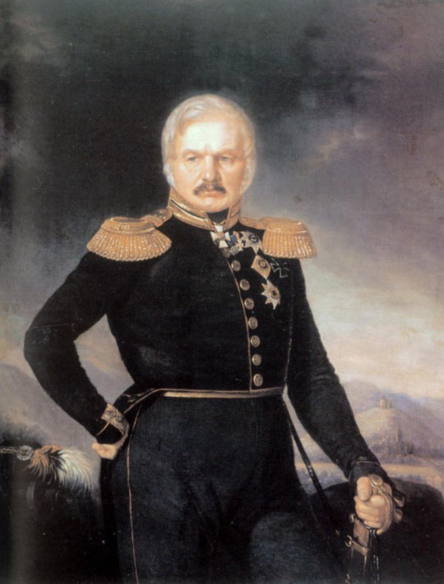 Петр Захаров-Чеченец. Портрет Алексея Петровича Ермолова