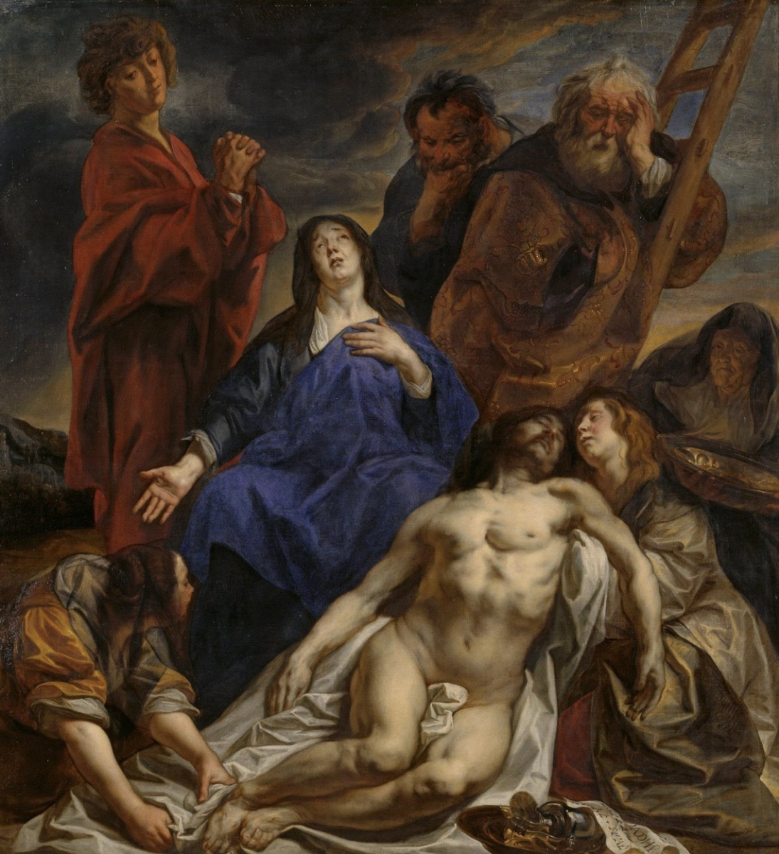 Jacob Jordaens. Lamenting christ