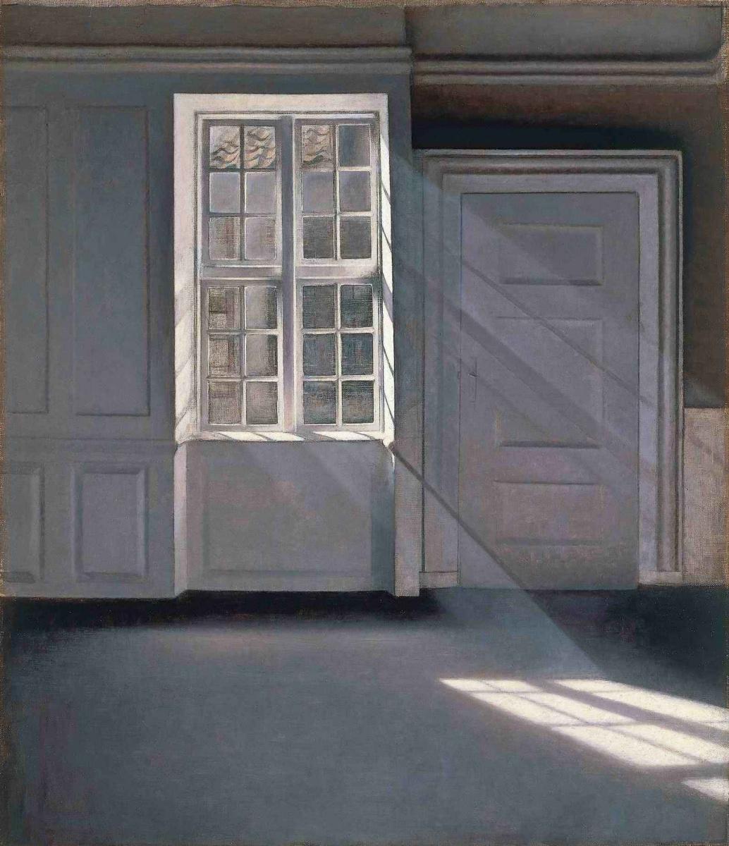 Vilhelm Hammershøi. Dust Motes Dancing in the Sunbeams