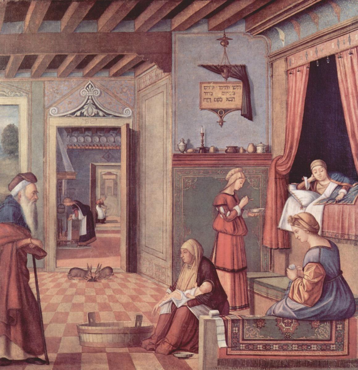 "Vittore Carpaccio. Cycle ""Albanesi"", The Nativity Of The Virgin"