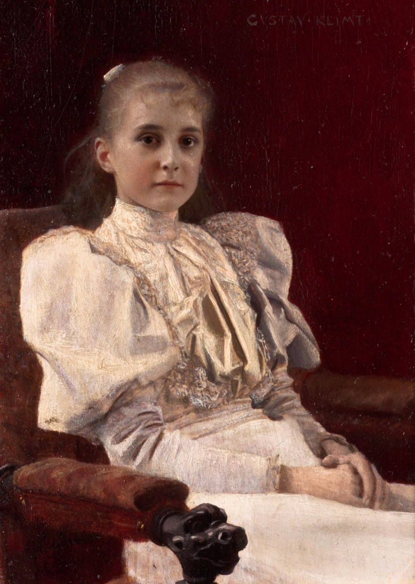 Густав Климт. Сидящая юная девушка
