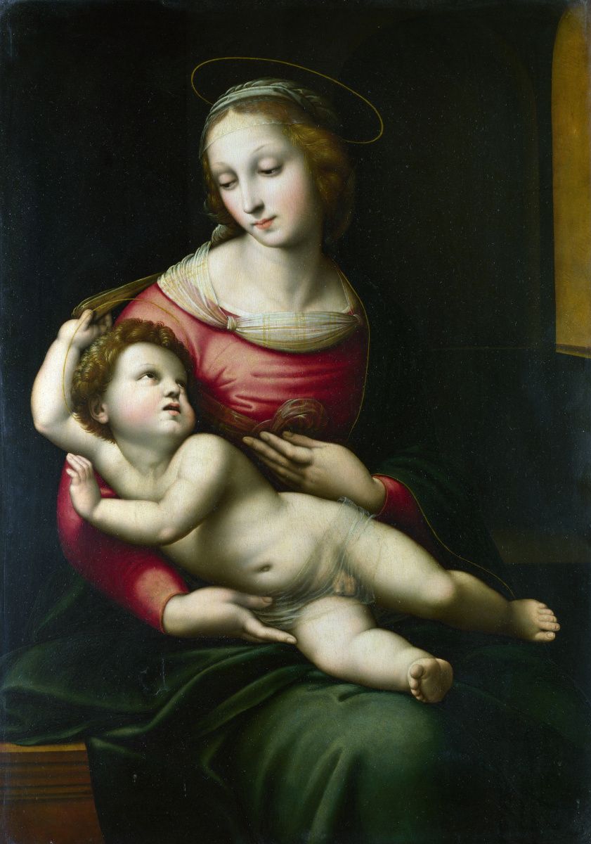 Рафаэля После. Мадонна с младенцем
