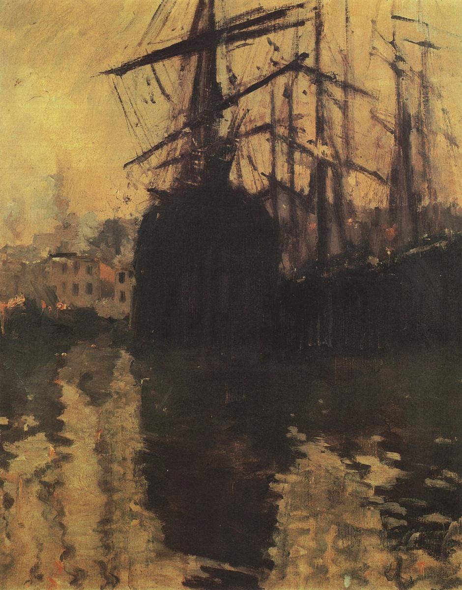 Константин Алексеевич Коровин. Порт в Марселе