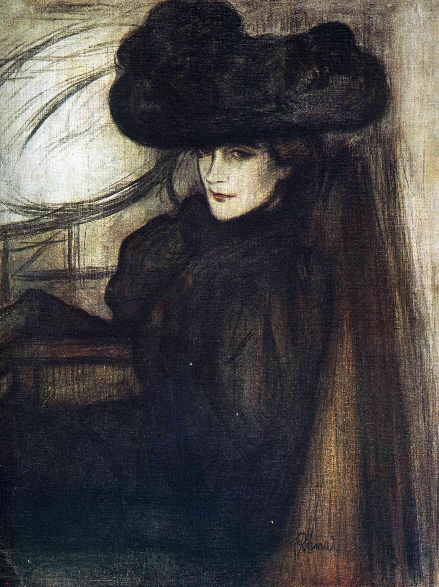 фото в черной шляпе девушка