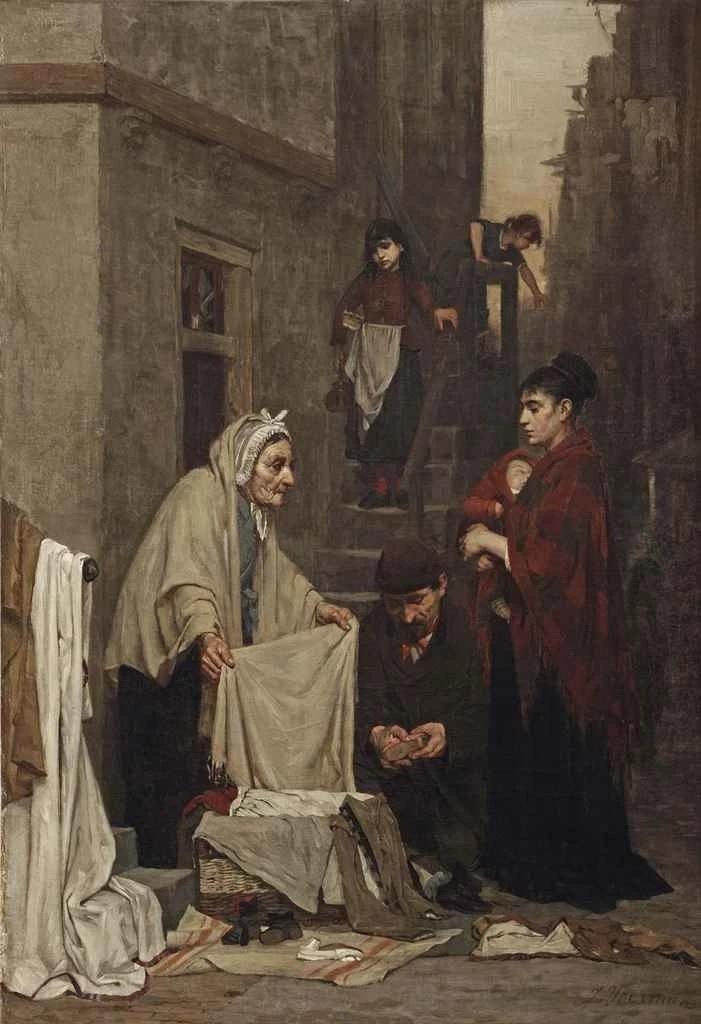 Jan Voerman (senior). Fabric merchant in the Jewish quarter