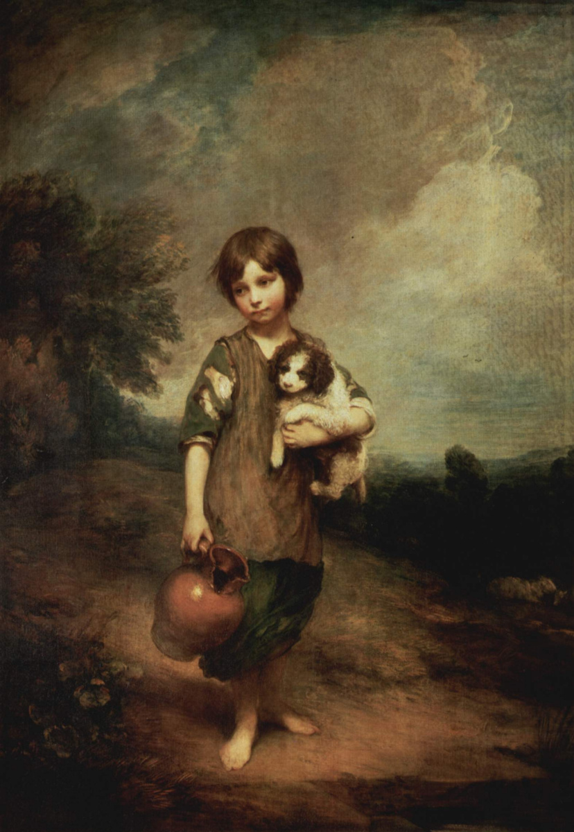 Томас Гейнсборо. Деревенская девочка с собакой и кувшином