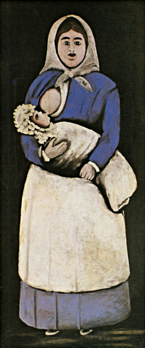 Нико Пиросмани (Пиросманашвили). Кормилица с ребенком