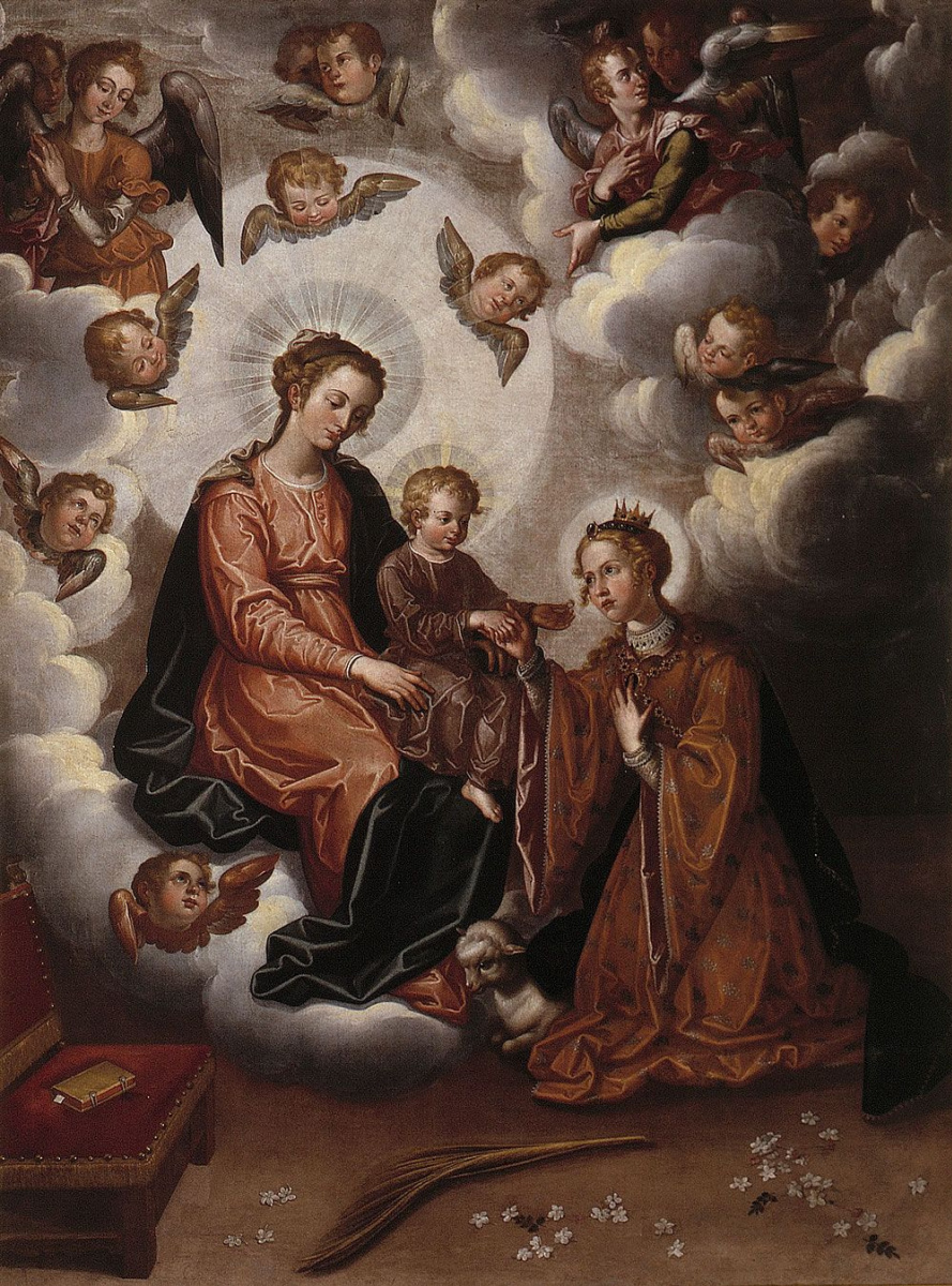 Francisco Pacheco del Rio. The mystical communion of St. Inez