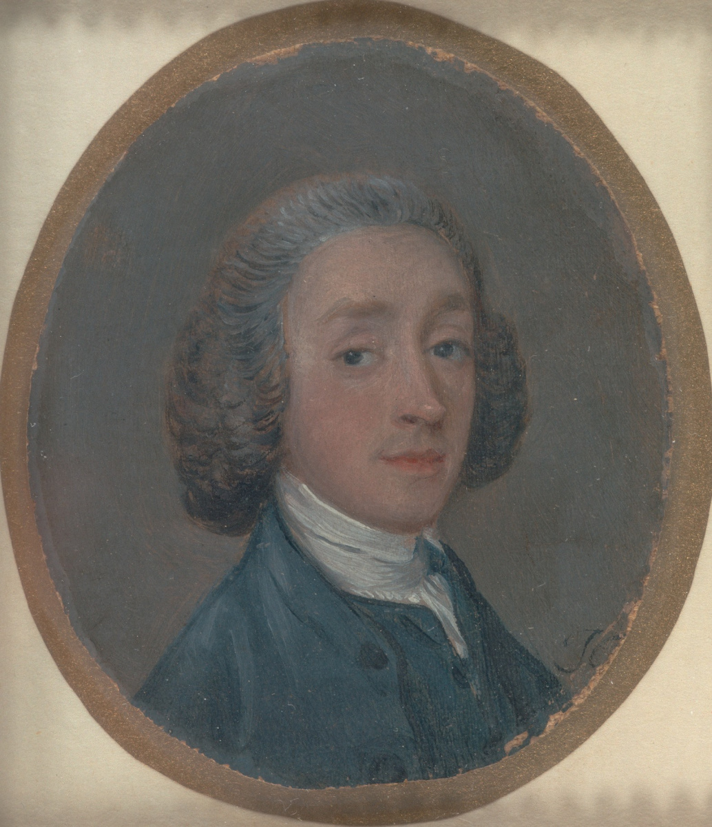 Thomas Gainsborough. Portrait of young man with powdered hair (maybe a self-portrait)