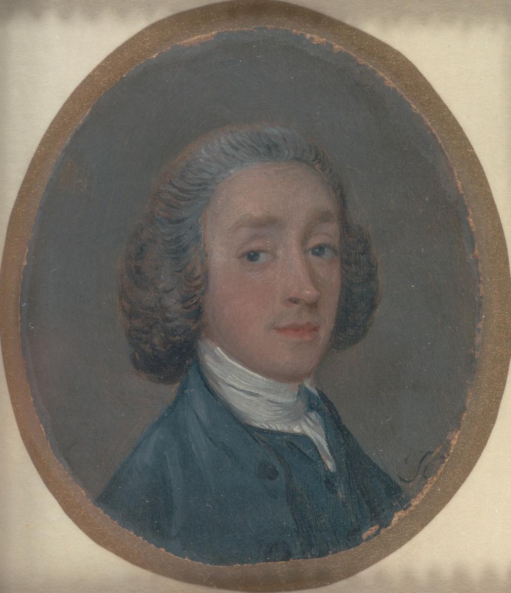 Томас Гейнсборо. Портрет молодого человека с припудренными волосами (возможно автопортрет)