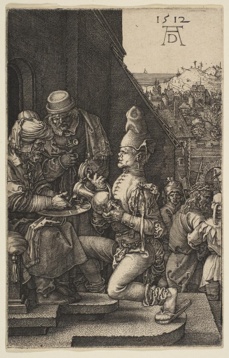 """Альбрехт Дюрер. Пилат умывает руки. Из цикла """"Страсти Христовы"""""""