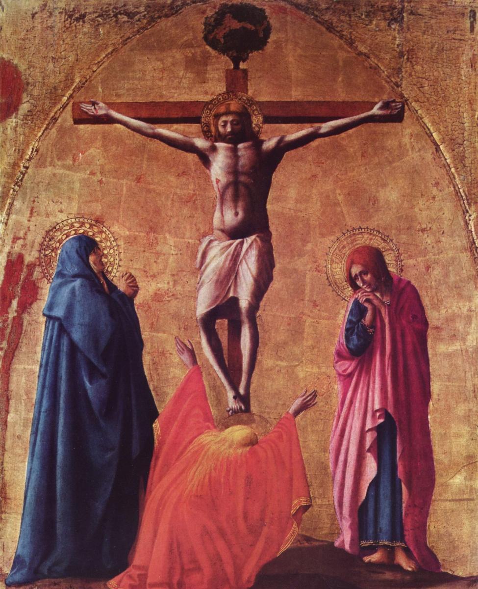 Томмазо Мазаччо. Полиптих для Санта Мария дель Кармине в Пизе. Распятие