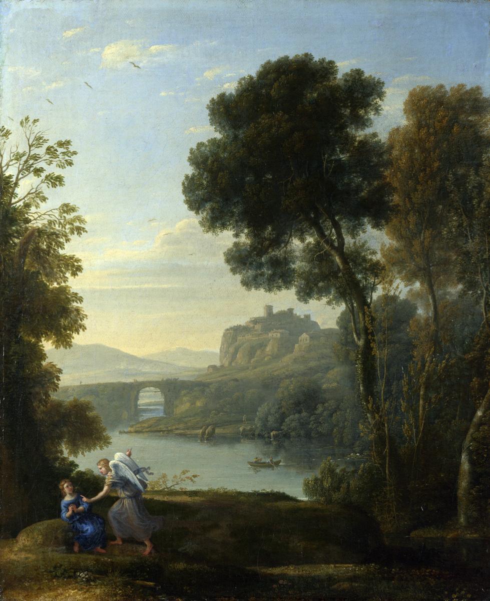 Клод. Пейзаж с Агарь и ангелом