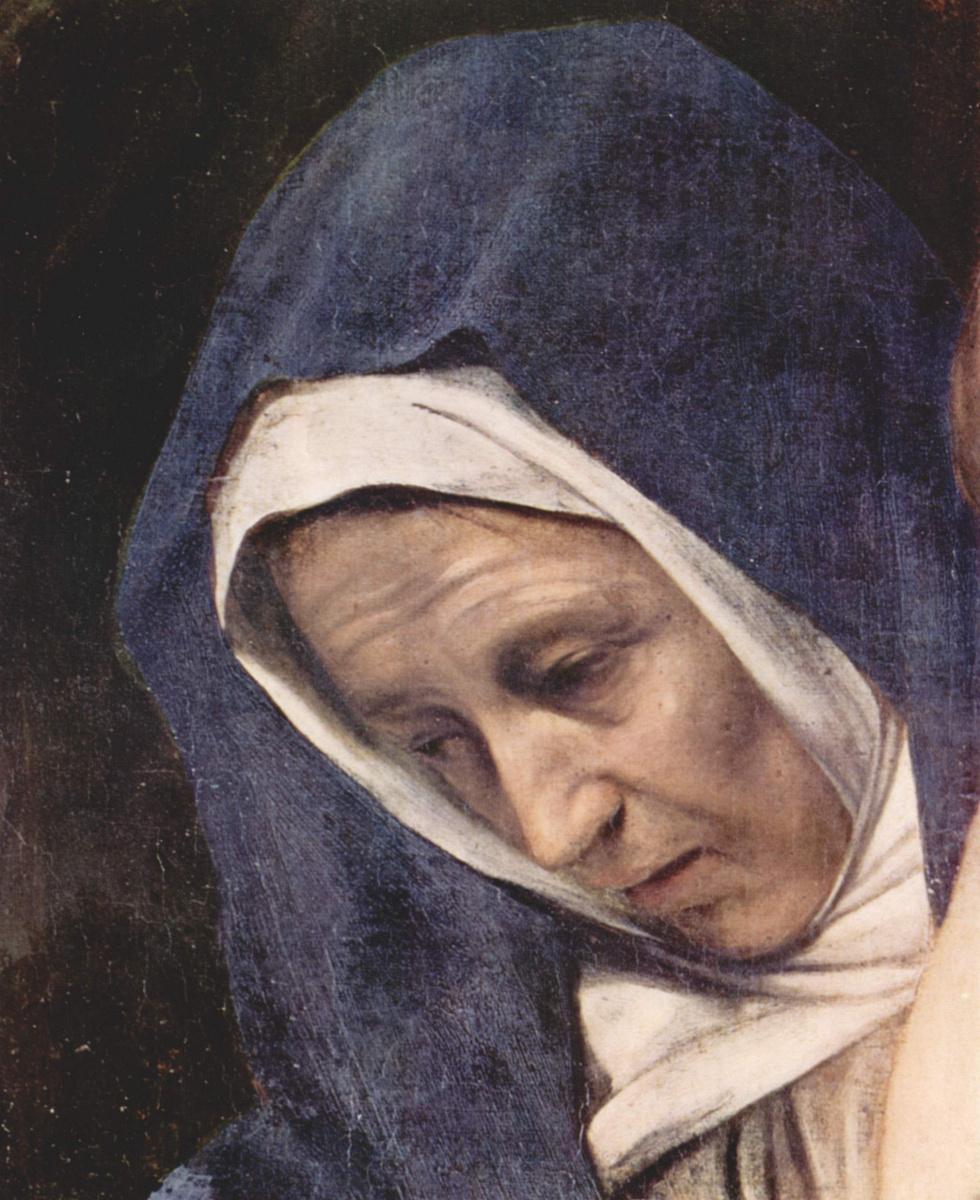 Michelangelo Merisi de Caravaggio. The Burial Of Christ. Fragment