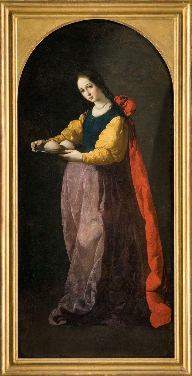Francisco de Zurbaran. St. Agatha