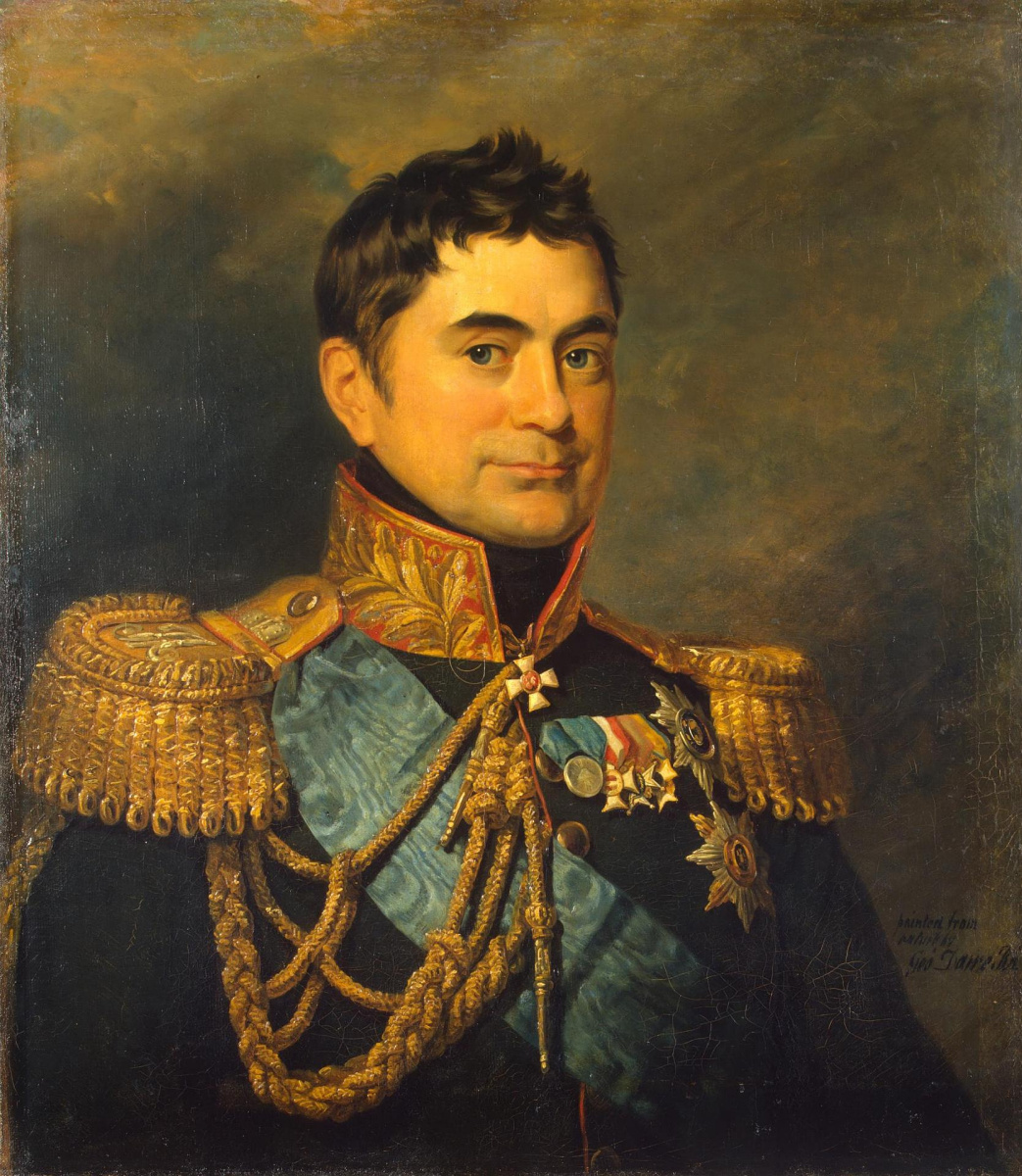 George Dow. Portrait of Peter Mikhailovich Volkonsky (with ribbon)