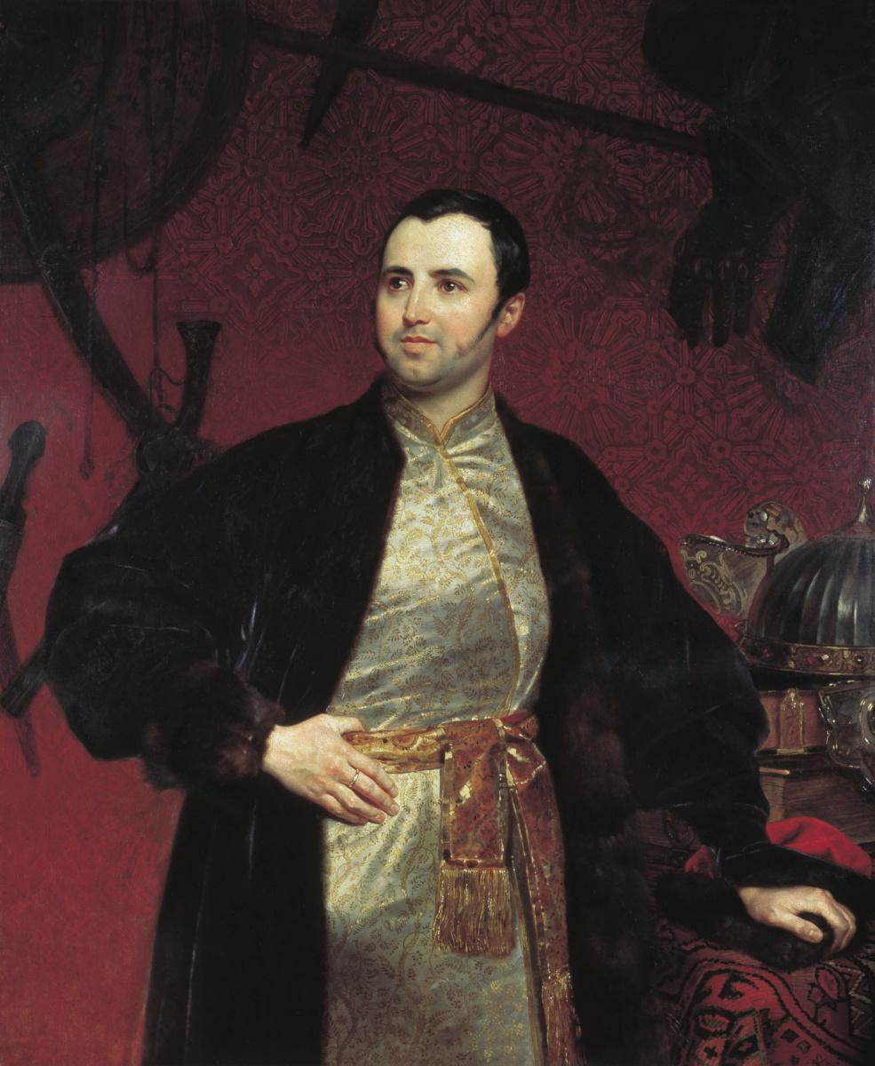 Карл Павлович Брюллов. Портрет князя М. А. Оболенского